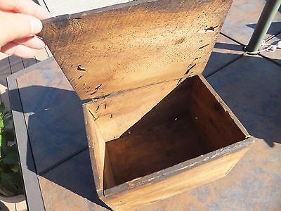 Vintage-Antique-Wood-Box-With-Leather-Hinged-Top